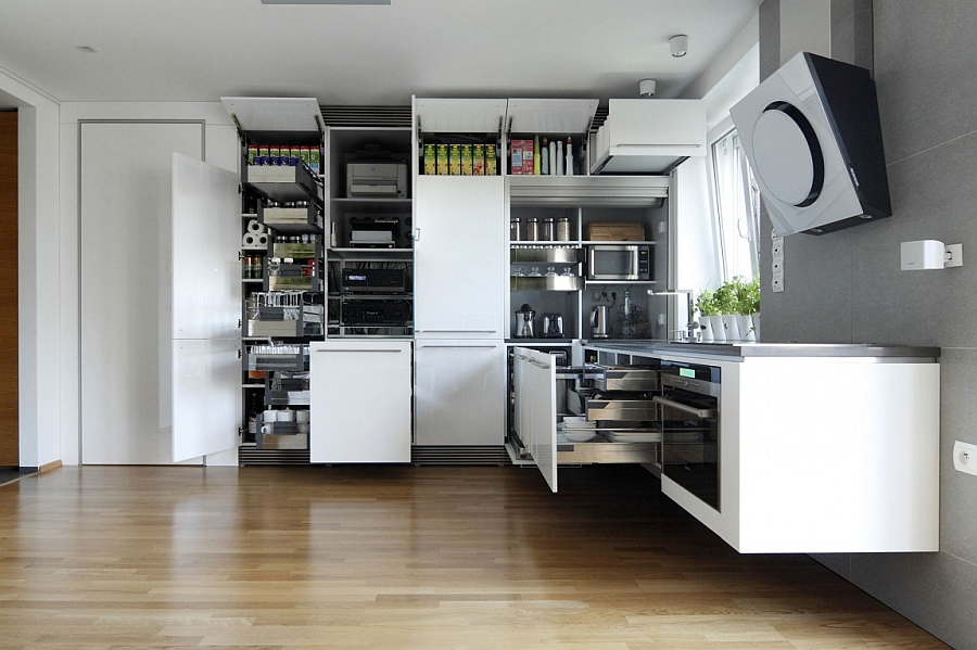 Tremendous Space Saving Kitchen Ideas 14 Wonderful Space Saving Small Largest Home Design Picture Inspirations Pitcheantrous